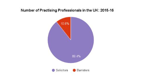 Number of Practising Professionals in the UK